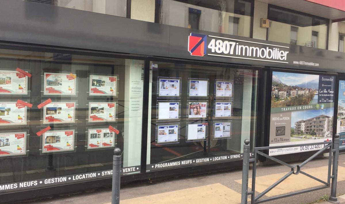 vitrine agence immobilière Cluses 74300