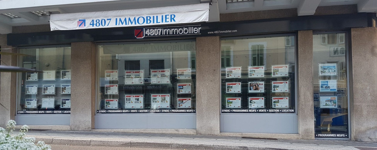 vitrine agence immobilière La Roche-sur-Foron