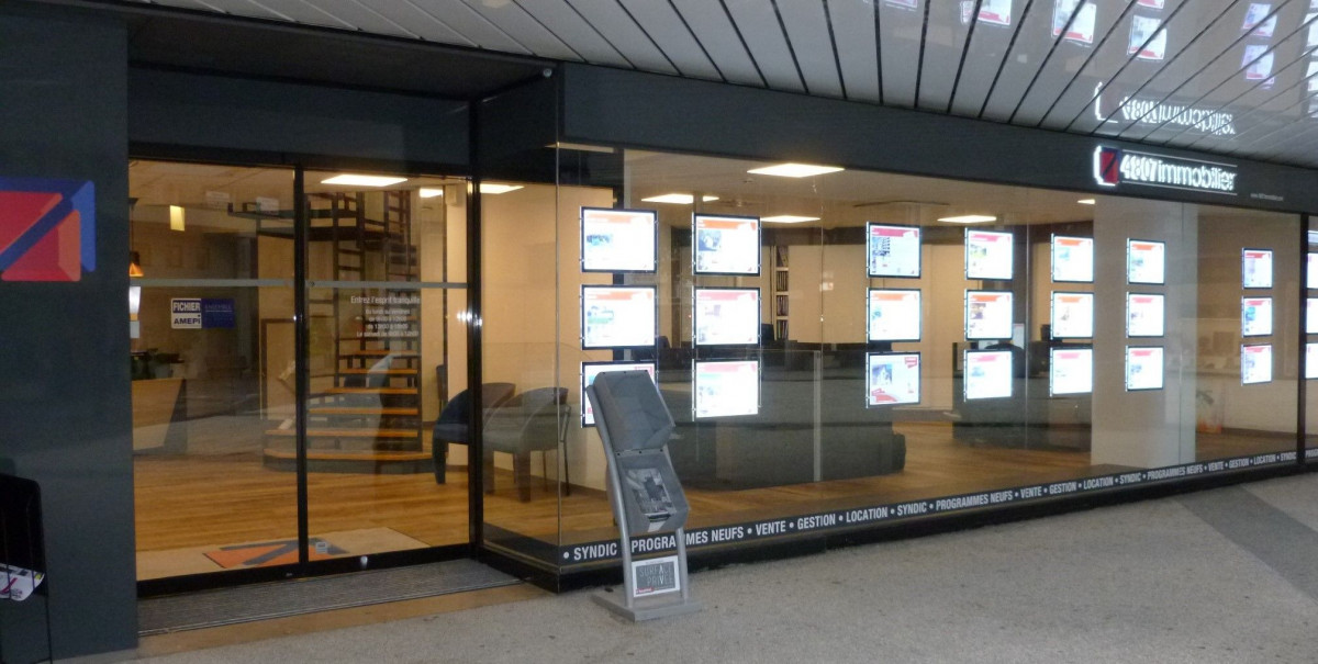 vitrine agence immobilière Annecy