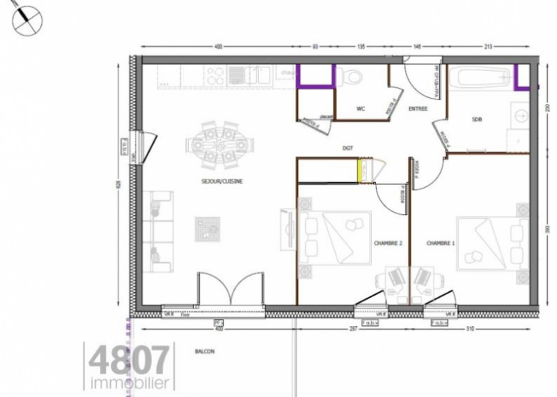 Appartement T3 à vendre à Cluses