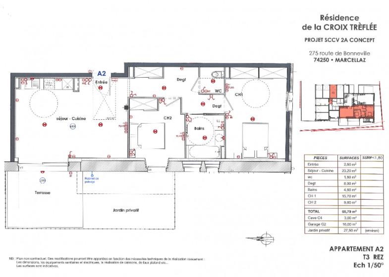 Appartement T3 à vendre à Marcellaz